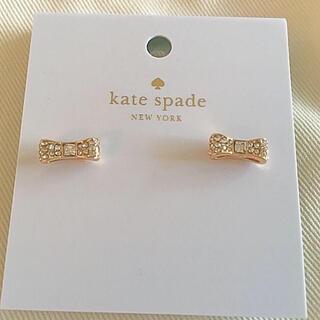 kate spade new york - ケイトスペード♠︎新品 リボン型ピアス ゴールド