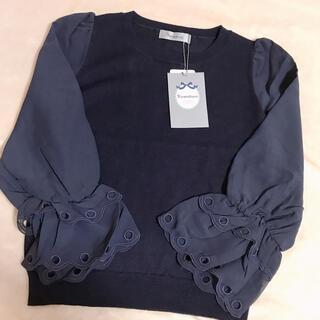 Rirandture - Rirandture◆袖シフォンスカラ刺繍ニット◆2 Mサイズ◆新品◆タグ付き