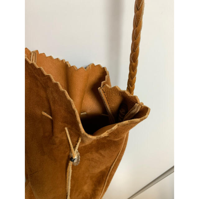 goro's(ゴローズ)のgoros ゴローズ 巾着バッグS 赤茶 メンズのバッグ(ショルダーバッグ)の商品写真