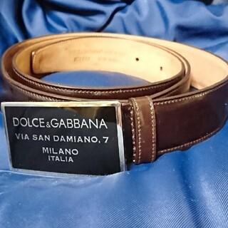 DOLCE&GABBANA - DOLCE&GABBANA❇️ロゴプレートバックル 本革ベルト