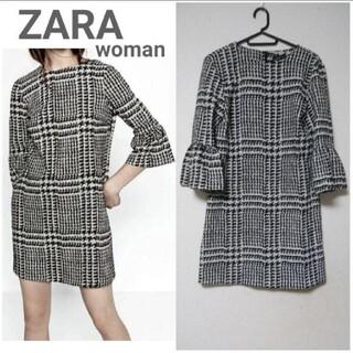 ZARA - 【ZARA】チェック ワンピース