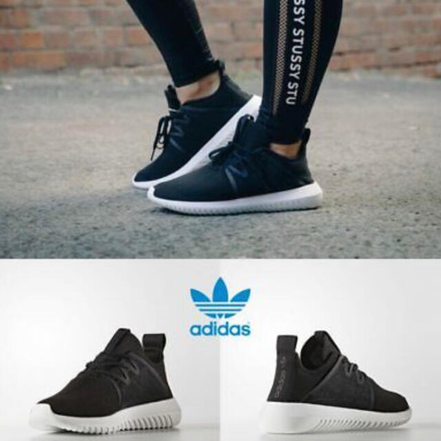 adidas(アディダス)のAdidas Tubular Viral 2 W Shoes 黒 レディースの靴/シューズ(スニーカー)の商品写真