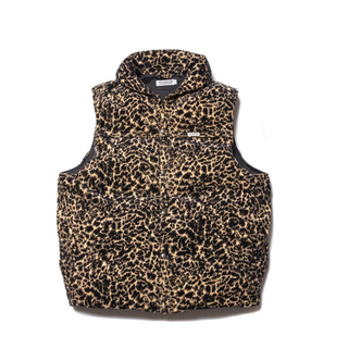 COOTIE - Corduroy Leopard Oversized Down Vest