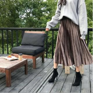 dholic - dholic♡ベロアプリーツスカート