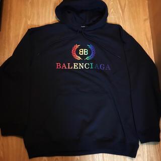 Balenciaga - BALENCIAGA レインボー ロゴ バレンシアガ スウェット パーカー