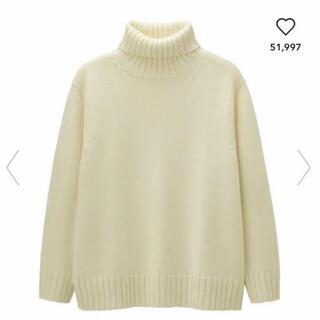 GU - 【完売新品 最終お値下げ】メンズS  ローゲージタートルネックセーター
