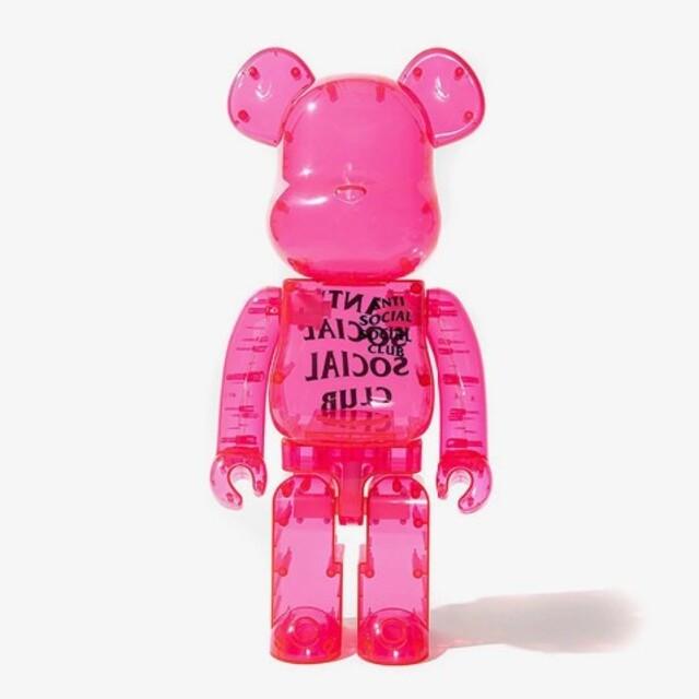 MEDICOM TOY(メディコムトイ)のAnti Social Social Club BE@RBRICK 400% エンタメ/ホビーのおもちゃ/ぬいぐるみ(キャラクターグッズ)の商品写真