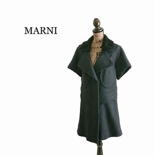 マルニ(Marni)のMARNI マルニ コート レディース ブラック(ロングコート)
