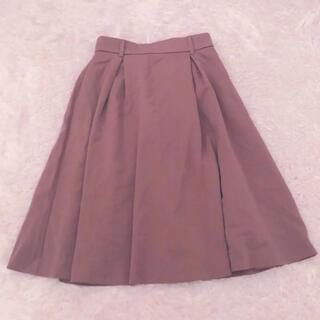 HONEYS - +゚。* ハニーズ 秋冬物 厚地 フレア スカート 57丈 ピンク S *。゚+