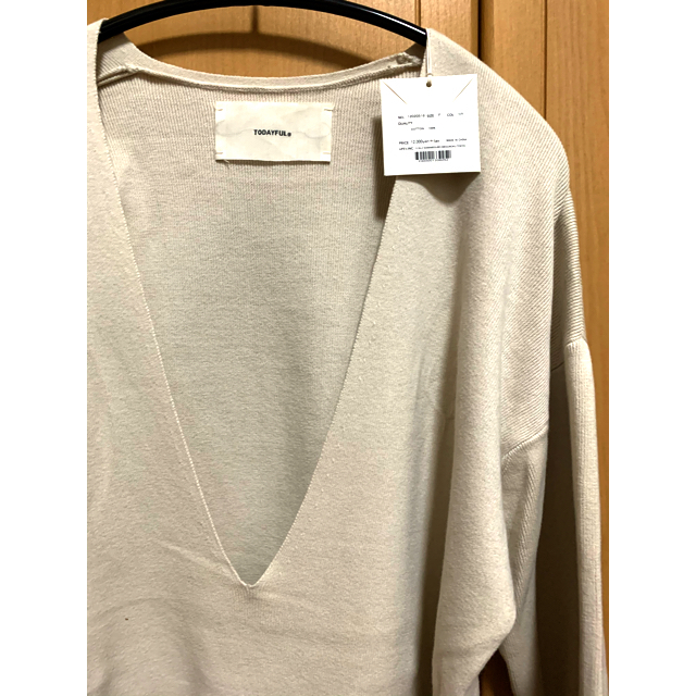 TODAYFUL(トゥデイフル)の(専用です2日まで)todayful  Washed Vneck Knit    レディースのトップス(ニット/セーター)の商品写真