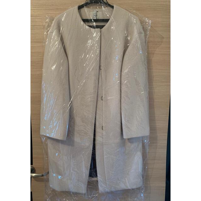 IENA(イエナ)のノーカラーコクーンコート レディースのジャケット/アウター(ロングコート)の商品写真