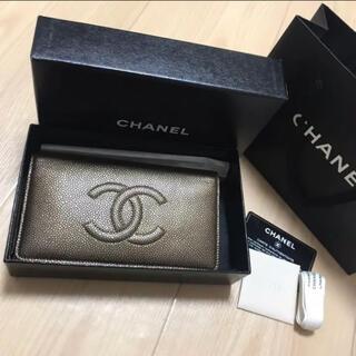 CHANEL - CHANEL (シャネル) 長財布 未使用 デカココ キャビアスキン