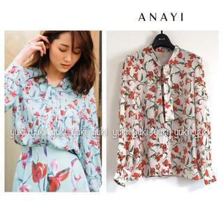 ANAYI - 【新品タグ付き】ANAYI 花柄ブラウス