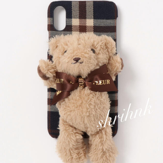 メゾンドフルール(Maison de FLEUR)の♡メゾンドフルール♡ささえてくまさんiPhoneX/XSケース♡クマ♡ベア♡(iPhoneケース)