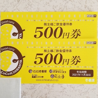 coco壱番屋 株主優待(レストラン/食事券)