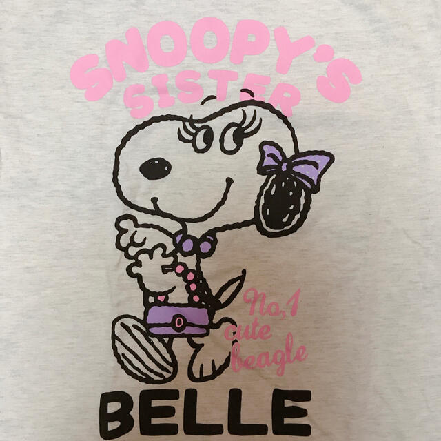 SNOOPY(スヌーピー)のスヌーピー ベル Tシャツ レディースのトップス(Tシャツ(半袖/袖なし))の商品写真
