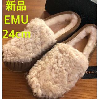 EMU - 限定値下げ★新品★EMU エミュー ケアンズ カーリーファー モカシン ムートン
