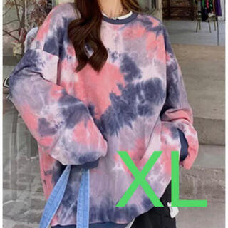 ⭐冬物新作⭐タイダイ柄パーカー ビッグシルエット ストリート ユニセックス XL(パーカー)