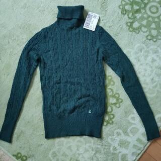 BENETTON - ☆BENETON、ベネトン、タートル セーター、ニット、グリーン、L、未使用品