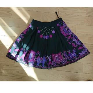 アナスイ(ANNA SUI)の美品!ANNA SUIのプリントスカート(ミニスカート)