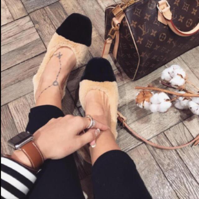 SeaRoomlynn(シールームリン)のsearoomlynn シールームリン バイカラー ファーミュール レディースの靴/シューズ(ミュール)の商品写真
