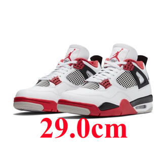 NIKE - AIR JORDAN4 RETRO FIRE RED 29.0cm US11