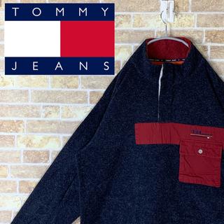 トミー(TOMMY)の送料無料!! トミー ヒルフィンガー 刺繍ロゴ ゆるだぼ 90s ハーフボタン(ブルゾン)