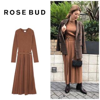 ROSE BUD - ROSE BUD ローズバッド ROSEBUD フィット&フレアニットワンピース