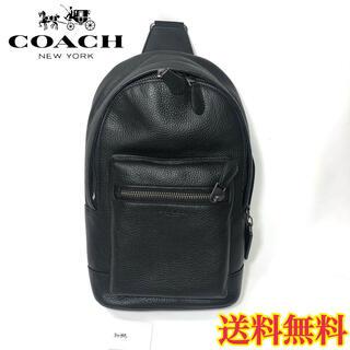 コーチ(COACH)の【新品】COACH ウエストバッグ ボディバッグ ブラック 黒(メッセンジャーバッグ)