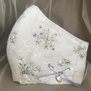 Ralph Lauren - ラルフローレン❁お花の刺繍のマスクカバー リボンと♡チャーム付き❁