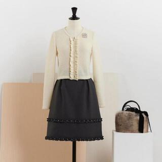 ルネ(René)のルネ フレア スカート 34 ミッドナイトネイビー(ひざ丈スカート)