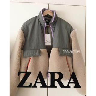 ZARA - 新品・未使用・タグ付き ZARA 新作 コンビ素材 ジャンパー