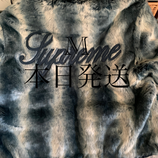 Supreme - Faux Fur Reversible Hooded  M  ブルー