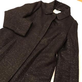 リランドチュール(Rirandture)のRirandture リランドチュール 黒のノーカラージャケット コート(ノーカラージャケット)
