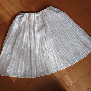 mezzo piano - メゾピアノ プリーツスカート サイズ130