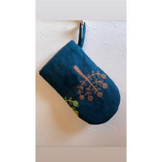 ミナペルホネン(mina perhonen)のブルーミックス 鍋つかみ ミトン ミナペルホネン ハンドメイド(収納/キッチン雑貨)
