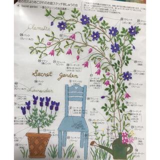 フェリシモ(FELISSIMO)のフェリシモ 青木和子 季節の花だより 夏のグリーンのある風景(生地/糸)