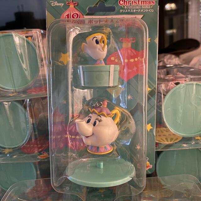 Disney(ディズニー)のファミリーマート 限定 クリスマス オーナメント くじ ポツト夫人とチツプ エンタメ/ホビーのおもちゃ/ぬいぐるみ(キャラクターグッズ)の商品写真