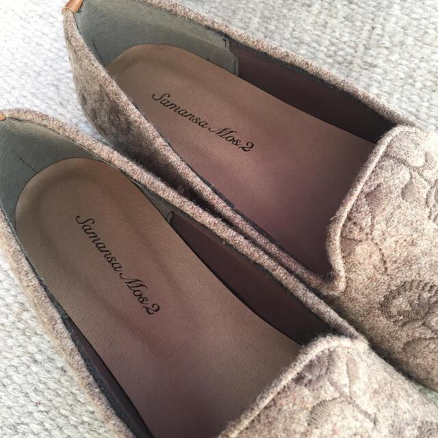 SM2(サマンサモスモス)の未使用*SM2 サマンサモスモス フラットシューズ お花刺繍 フェルト レディースの靴/シューズ(バレエシューズ)の商品写真