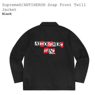 シュプリーム(Supreme)のsupreme ANTIHERO Snap Twill Jacket 黒L(ブルゾン)