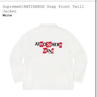 Supreme - supreme ANTIHERO Snap Twill Jacket 白XL