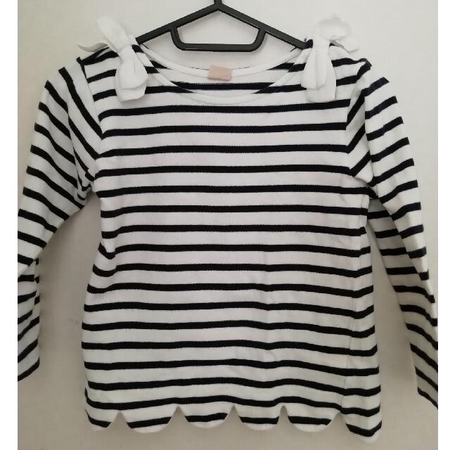 petit main(プティマイン)のプティマイン ボーダー キッズ/ベビー/マタニティのキッズ服女の子用(90cm~)(Tシャツ/カットソー)の商品写真
