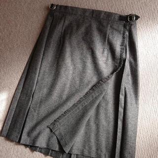 オニール(O'NEILL)のO'NEIL of DUBLIN トラッド ウール 巻きスカート グレー(ひざ丈スカート)