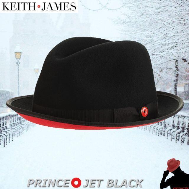 Borsalino(ボルサリーノ)のキースアンドジェームズ★PRINCE 【Jet Black】 Large  メンズの帽子(ハット)の商品写真