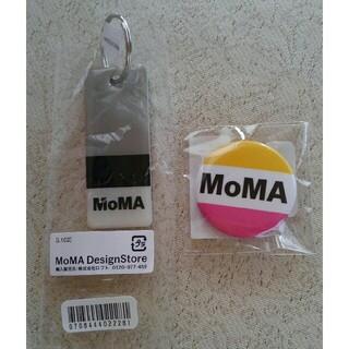 モマ(MOMA)の新品MoMAキーホルダーとバッチ(キーホルダー)