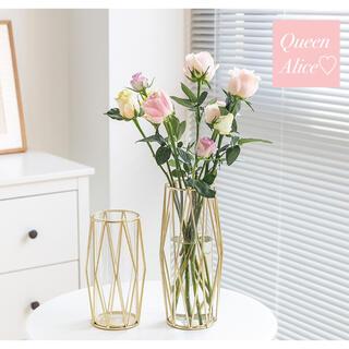 【北欧】ゴールド  フラワーベース 花瓶 ヨーロッパ 生花 フランフラン 韓国
