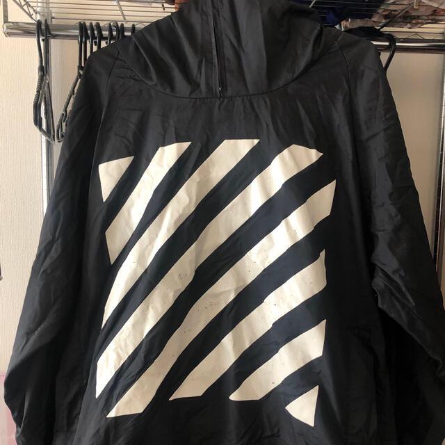 OFF-WHITE(オフホワイト)の本日限り!オフホワイト  アノラックパーカー メンズのジャケット/アウター(ナイロンジャケット)の商品写真