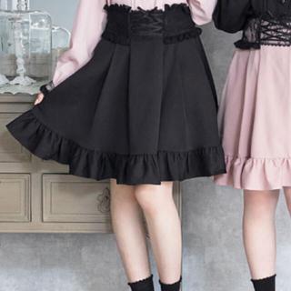 夢展望 - 夢展望 ディアマイラブ レースアップ スカート ミニ丈 フリル 韓国ファッション