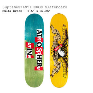 シュプリーム(Supreme)のSupreme ANTIHERO Skateboard Multi Green(スケートボード)