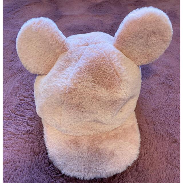 Disney(ディズニー)のディズニー 帽子 キャップ もこもこキャップ ミッキー エンタメ/ホビーのおもちゃ/ぬいぐるみ(キャラクターグッズ)の商品写真